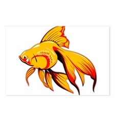 Fantail Goldfish Postcards (Package of 8)