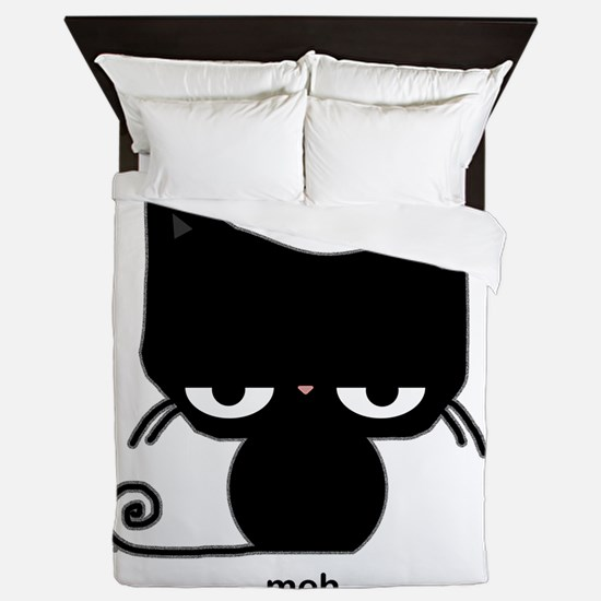 meh cat Queen Duvet