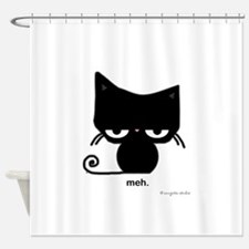 meh cat Shower Curtain
