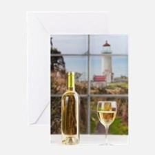 Wine at North Head Greeting Cards