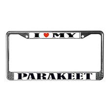 Parakeet License Plate Frame
