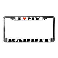 Rabbit Love License Plate Frame