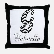 Monogram G Your Name Custom Throw Pillow