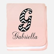 Monogram G Your Name Custom baby blanket