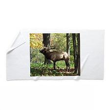 Elk bellowing Beach Towel