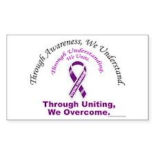 Through Awareness Cystic Fibrosis Decal
