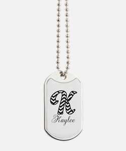 Monogram K Your Name Custom Dog Tags