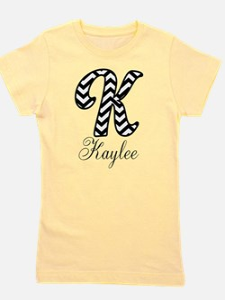 Monogram K Your Name Custom Girl's Tee