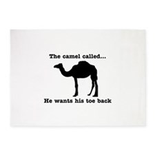 The Camel Called Wants Toe Back 5'x7'Area Rug