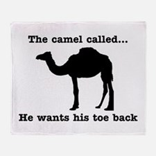 The Camel Called Wants Toe Back Throw Blanket