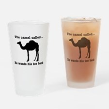 The Camel Called Wants Toe Back Drinking Glass