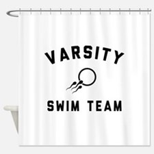 Varsity Swim Team Shower Curtain