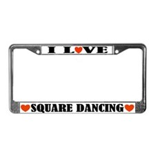 I Love Square Dancing License Plate Frame