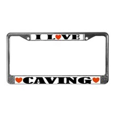 I Love Caving License Plate Frame