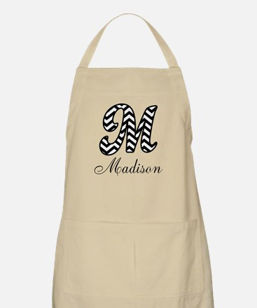 Monogram M Your Name Custom Apron