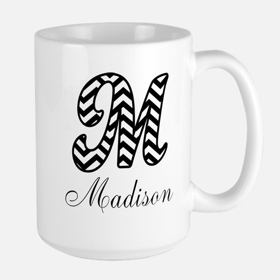Monogram M Your Name Custom Mugs