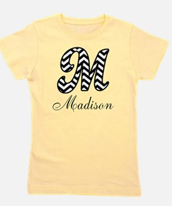 Monogram M Your Name Custom Girl's Tee