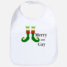 Merry and Gay Christmas Elf Bib