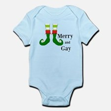 Merry and Gay Christmas Elf Body Suit