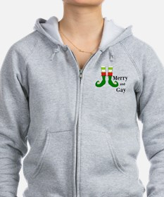 Merry and Gay Christmas Elf Zip Hoodie