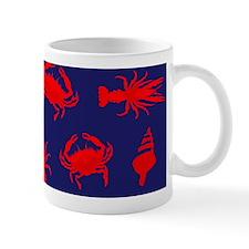 Bayou Red and Blue Mugs
