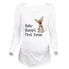 Baby Bump's First Xmas Long Sleeve Maternity T-Shi