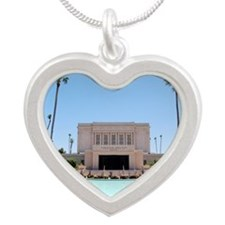Mormon, Mesa Temple: Silver Heart Necklace