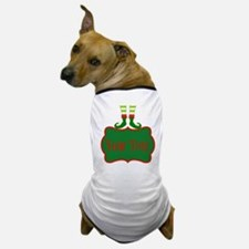 Personalizable Christmas Elf Feet Dog T-Shirt