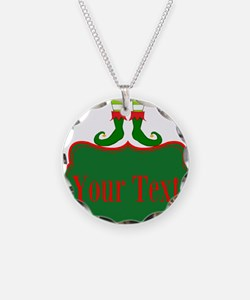 Personalizable Christmas Elf Feet Necklace