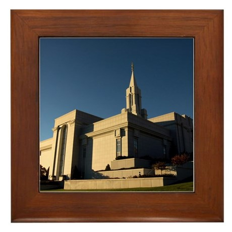 Lds Bountiful Utah Temple Framed Tile By Mormonisms Lds