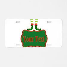 Personalizable Christmas Elf Feet Aluminum License