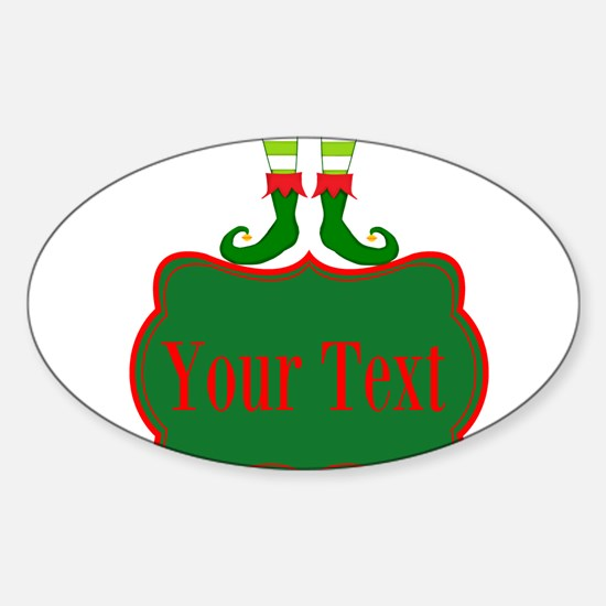 Personalizable Christmas Elf Feet Decal