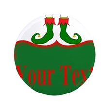 """Personalizable Christmas Elf Feet 3.5"""" Button (100"""