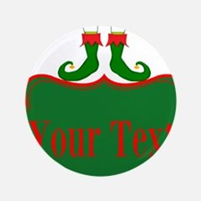 """Personalizable Christmas Elf Feet 3.5"""" Button"""
