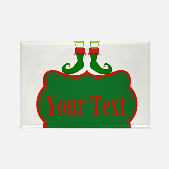 Personalizable Christmas Elf Feet Magnets