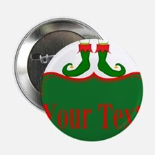"""Personalizable Christmas Elf Feet 2.25"""" Button (10"""