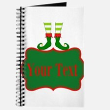 Personalizable Christmas Elf Feet Journal