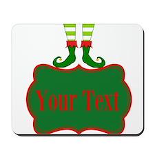 Personalizable Christmas Elf Feet Mousepad