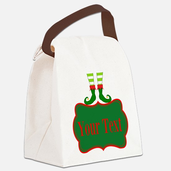 Personalizable Christmas Elf Feet Canvas Lunch Bag
