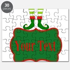 Personalizable Christmas Elf Feet Puzzle