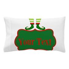 Personalizable Christmas Elf Feet Pillow Case