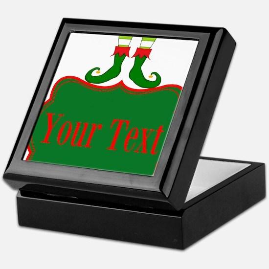 Personalizable Christmas Elf Feet Keepsake Box