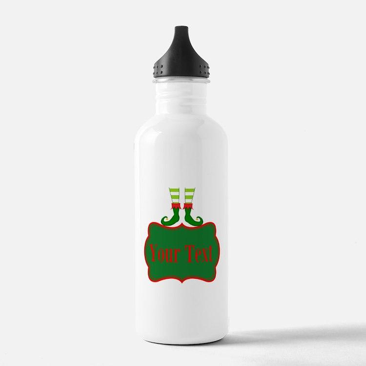 Personalizable Christmas Elf Feet Water Bottle