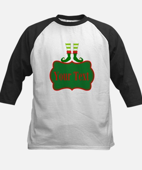 Personalizable Christmas Elf Feet Baseball Jersey