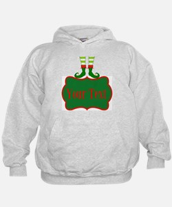 Personalizable Christmas Elf Feet Hoodie