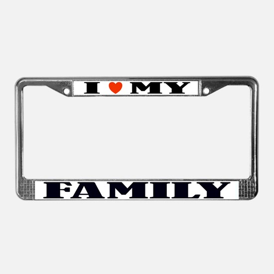 Love My Family License Plate Frame