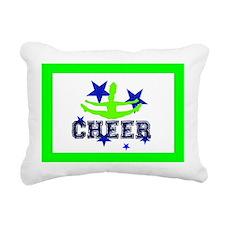 Green Allstar Cheerleade Rectangular Canvas Pillow