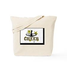Black and Gold Cheerleader Tote Bag
