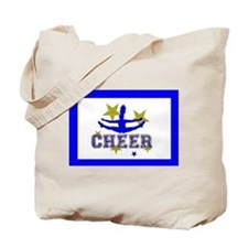 Blue Allstar Cheerleader Tote Bag