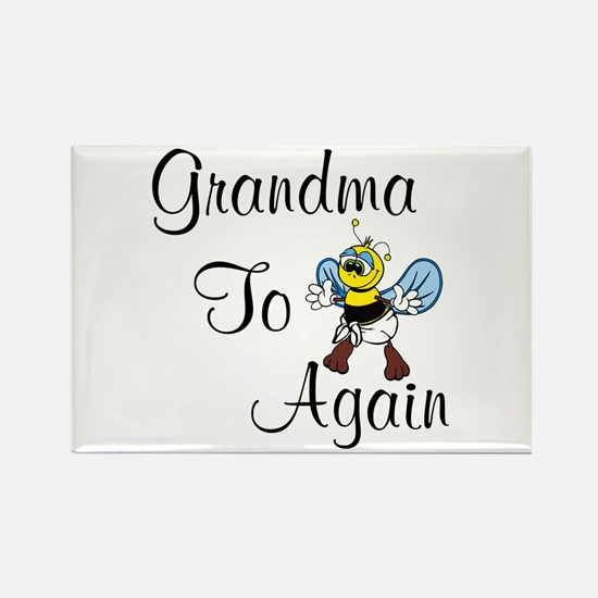 Cute New grandparent again Rectangle Magnet